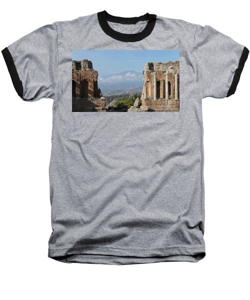 Greek Theatre Taormina Baseball T-Shirt