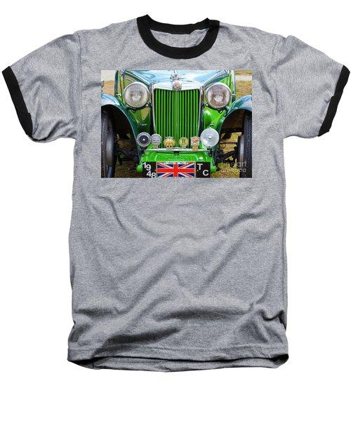Baseball T-Shirt featuring the photograph Green 1948 Mg Tc by Chris Dutton