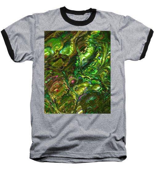 Green Abalone Abstract Baseball T-Shirt