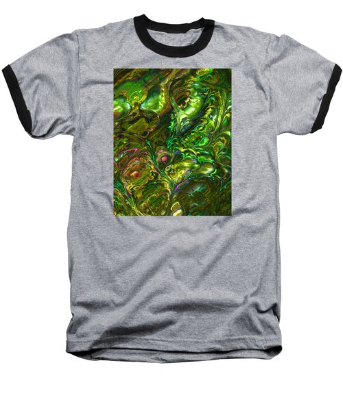 Green Abalone Abstract Baseball T-Shirt