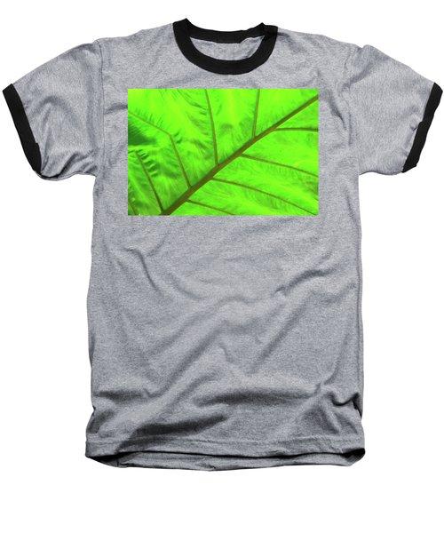 Green Abstract No. 5 Baseball T-Shirt
