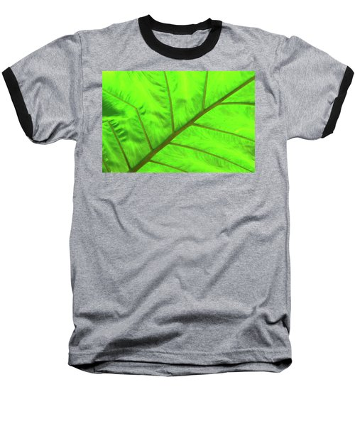 Green Abstract No. 5 Baseball T-Shirt