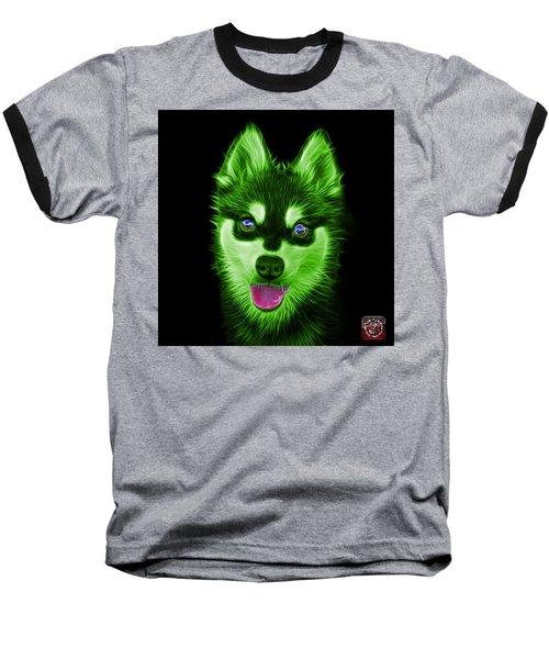 Green Alaskan Klee Kai - 6029 -bb Baseball T-Shirt by James Ahn