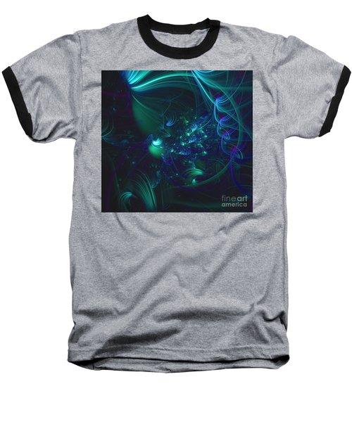 Green And Blue Escape Baseball T-Shirt