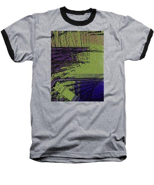 Green And Purple Field Baseball T-Shirt