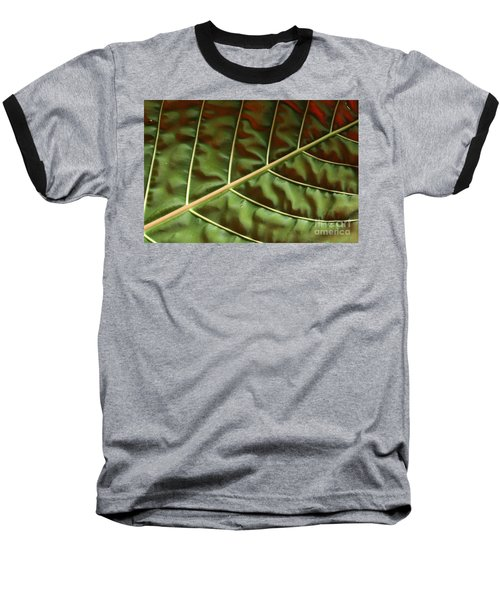 Green And Red Leaf Silky Dunes 1 Baseball T-Shirt