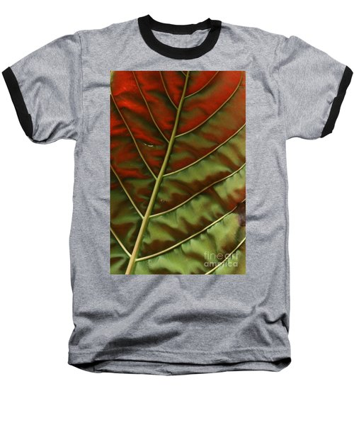 Green And Red Leaf Silky Dunes 2 Baseball T-Shirt