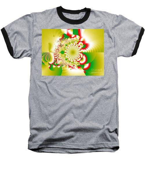 Green And Yellow Collide Baseball T-Shirt