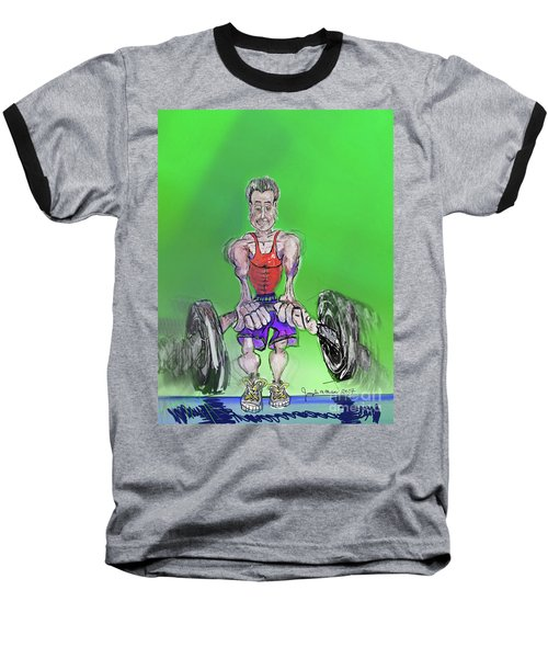 Green At Work Out West Baseball T-Shirt