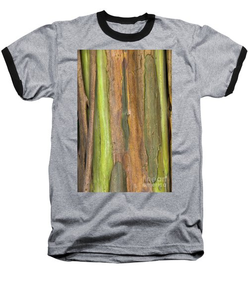 Baseball T-Shirt featuring the photograph Green Bark 3 by Werner Padarin