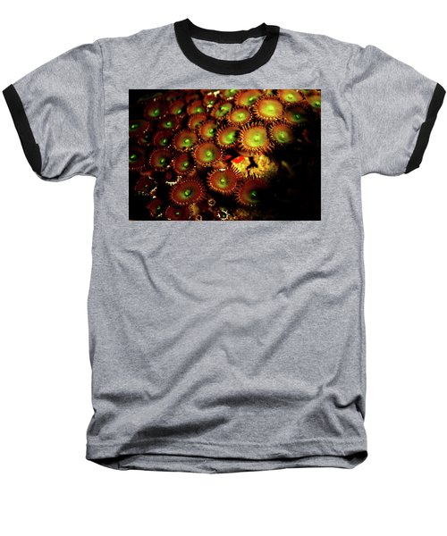 Baseball T-Shirt featuring the photograph Green Button Polyps by Anthony Jones