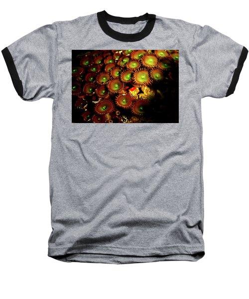 Green Button Polyps Baseball T-Shirt