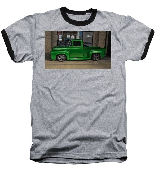 Green Car Baseball T-Shirt