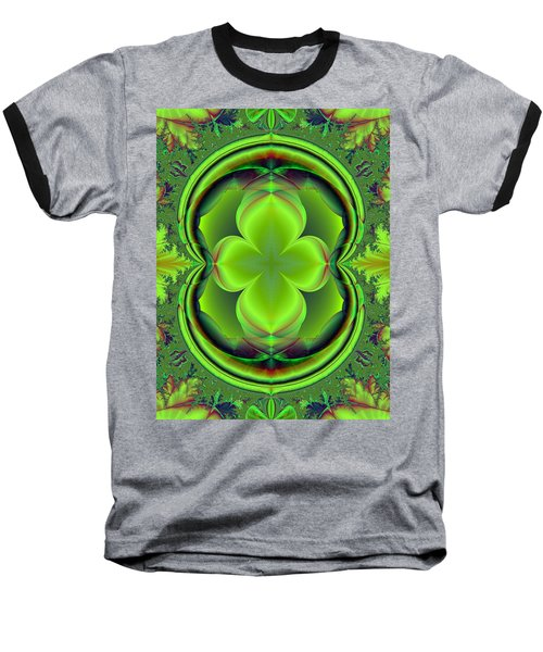 Baseball T-Shirt featuring the digital art Green Clover by Svetlana Nikolova
