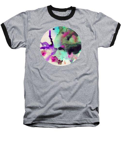 Green Color Splash Baseball T-Shirt