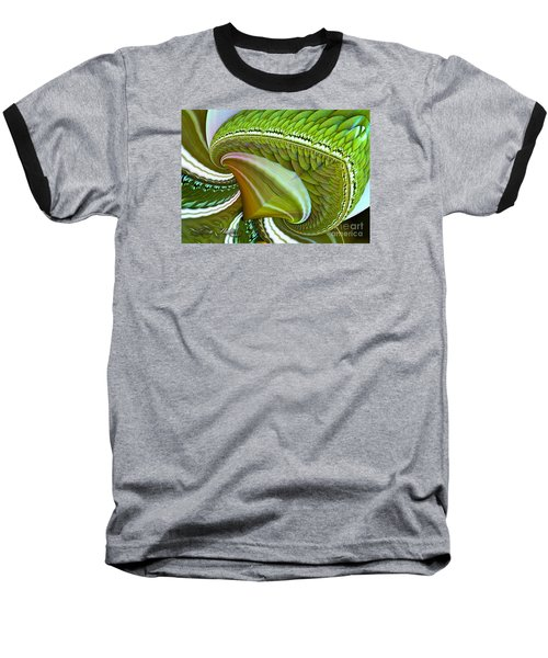 Baseball T-Shirt featuring the digital art Green Diamonds by Melissa Messick