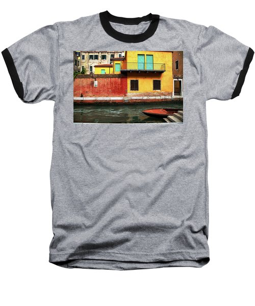 Green Doors Baseball T-Shirt by Sharon Jones
