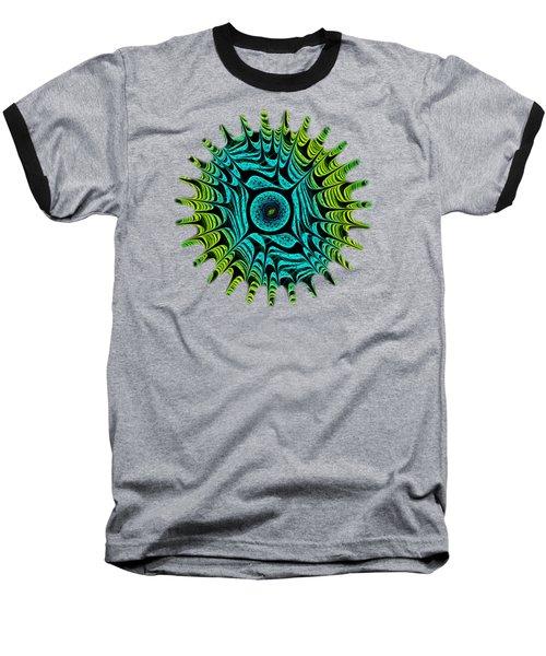 Green Dragon Eye Baseball T-Shirt by Anastasiya Malakhova