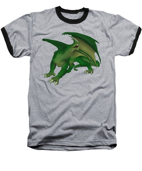 Green Dragon Baseball T-Shirt by Gaynore Craps