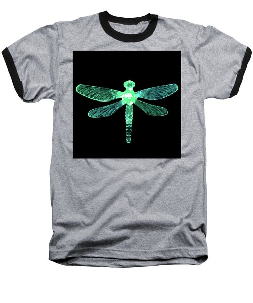 Green Dragonfly Baseball T-Shirt