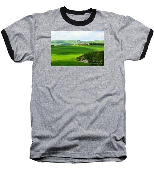 Green Escape In Tuscany Baseball T-Shirt by Ramona Matei