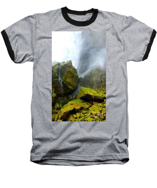 Baseball T-Shirt featuring the photograph Green Falls by Raymond Earley