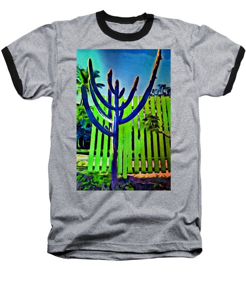 Green Fence Baseball T-Shirt