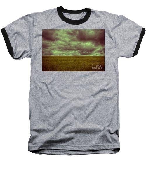 Green Fields 3 Baseball T-Shirt by Douglas Barnard