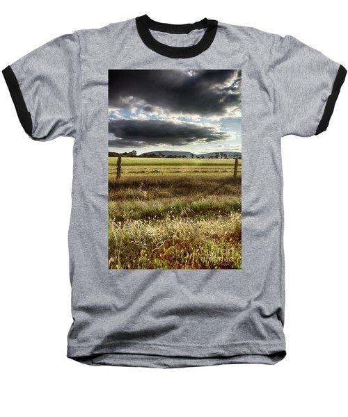 Green Fields 6 Baseball T-Shirt by Douglas Barnard