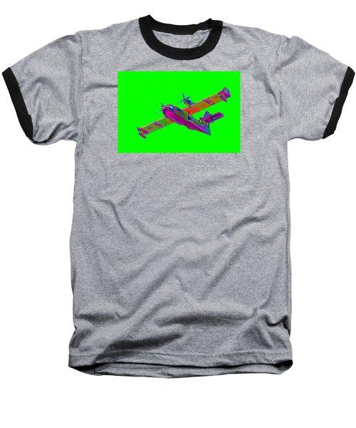 Green Fire Flight  Baseball T-Shirt