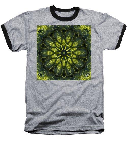 Succulent Mandala Baseball T-Shirt