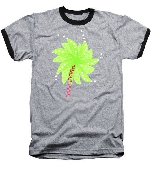 Green Flowers In The Wind Baseball T-Shirt