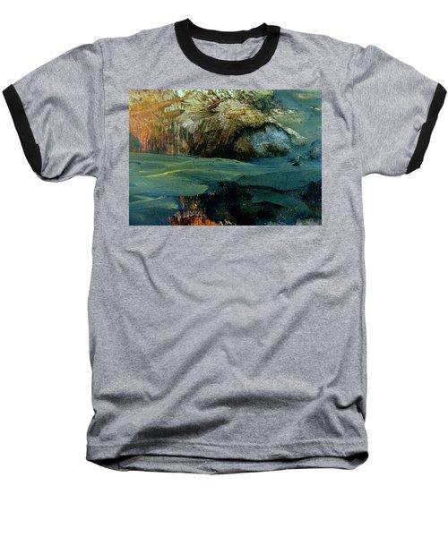 Green Fog Baseball T-Shirt by Nancy Kane Chapman