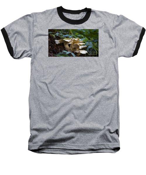 Green Forest Floor Baseball T-Shirt