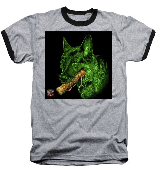 Green German Shepherd And Toy - 0745 F Baseball T-Shirt