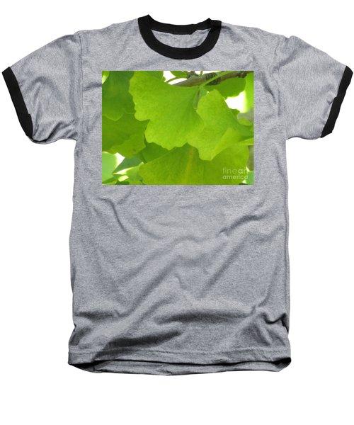 Green Ginkgo Baseball T-Shirt