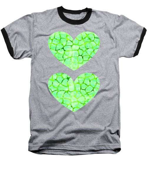 Green Giraffe Print Baseball T-Shirt