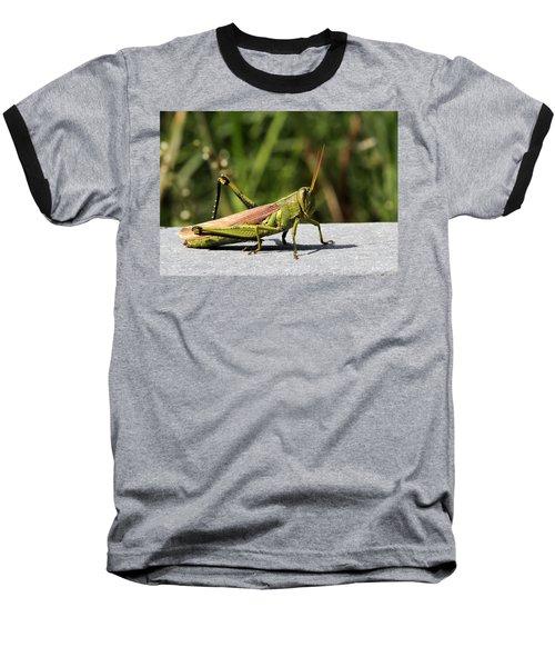 Green Grasshopper Baseball T-Shirt