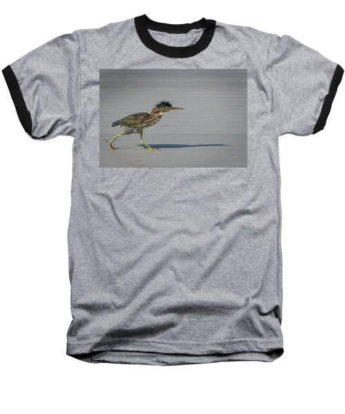 Green Heron On A Mission Baseball T-Shirt