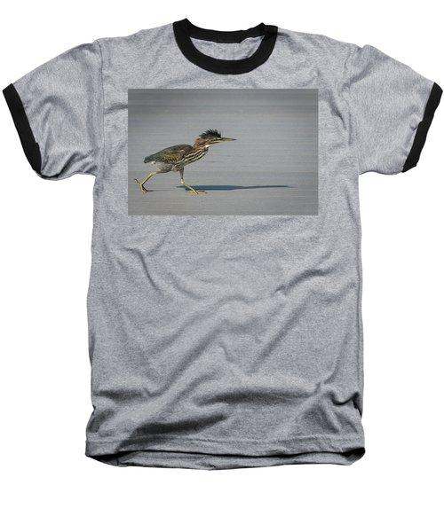 Green Heron On A Mission Baseball T-Shirt