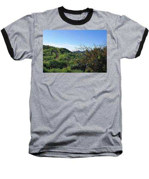 Baseball T-Shirt featuring the photograph Green Hills And Bushes Landscape by Matt Harang