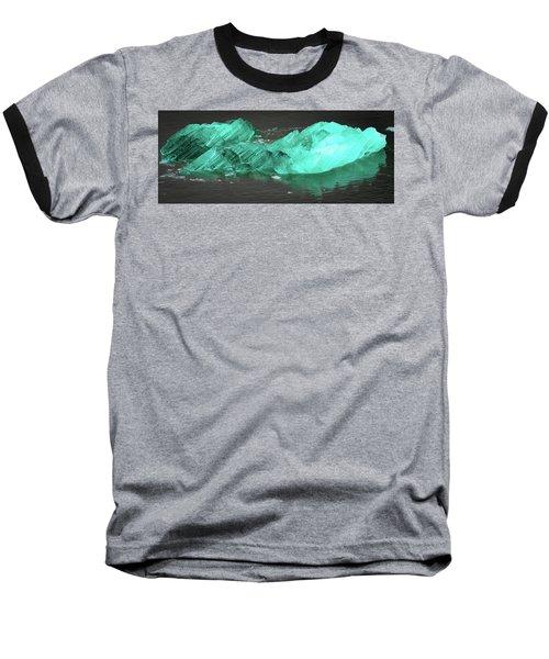 Green Iceberg Baseball T-Shirt