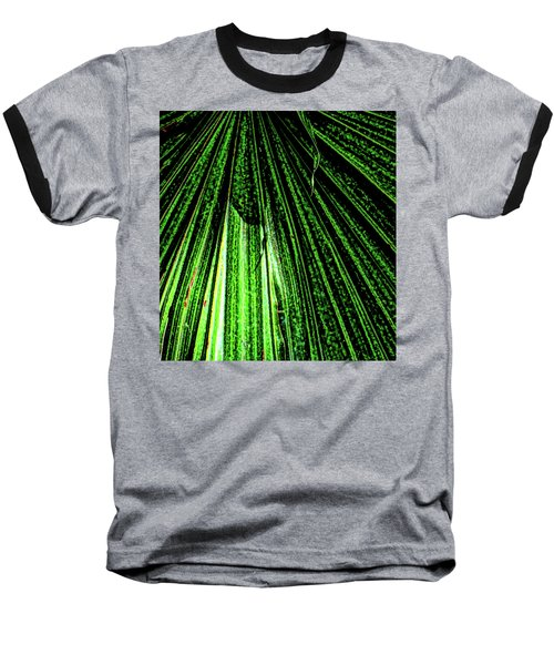 Green Leaf Forest Photo Baseball T-Shirt