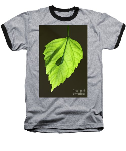 Green Hibiscus Leaf Baseball T-Shirt