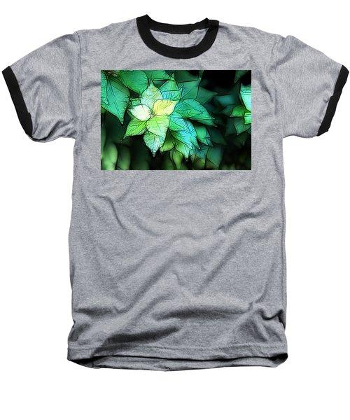 Green Leaves Baseball T-Shirt by Carol Crisafi