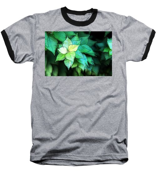 Green Leaves Baseball T-Shirt