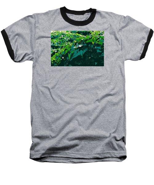 Green Leaves Baseball T-Shirt by John Rossman