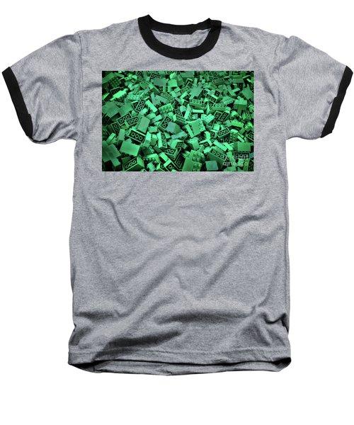 Green Lego Abstract Baseball T-Shirt