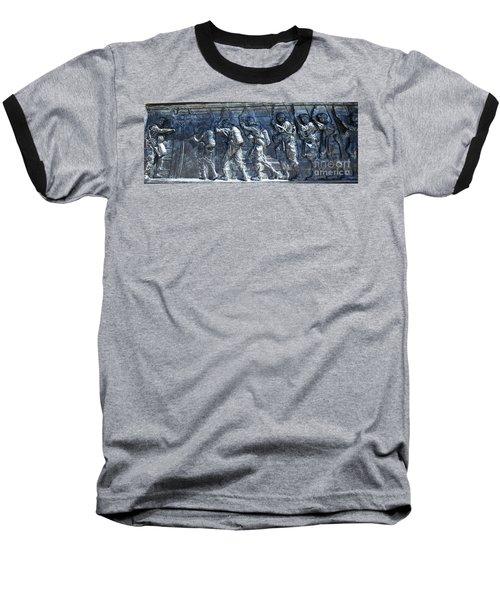 Green Light - Jump Time Baseball T-Shirt by David Bearden