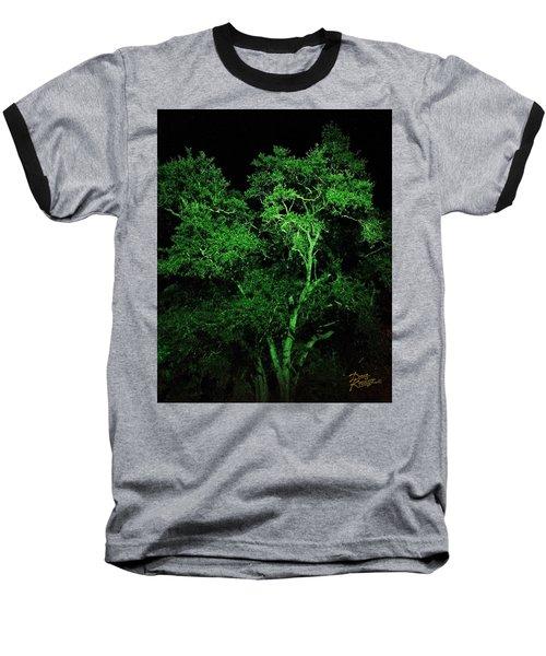 Baseball T-Shirt featuring the digital art Green Magic by Doug Kreuger